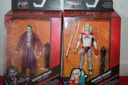 Multiverse Joker /& Harley Quinn  6 inch figures  Suicide Squad croc  baf D.C