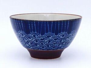 Pro Japanese Rice Bowl TOMITALIA  MILMIL Series Rain on Waves Japan made