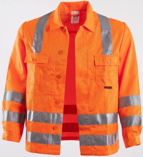 Warnschutz-Bundjacke Arbeiterjacke Arbeitsjacke QUALITEX signal MG 280 g//m²