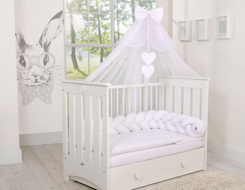 470 x 170cm for BABY Cot//Cot Bed LUXURY CANOPY DRAPE /& Holder//Pole