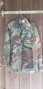 Us-Army-Woodland-chaqueta-campo-chaqueta-campo-blusa-camisa-campo-camisa-orginal-Gebr-XS-XXL