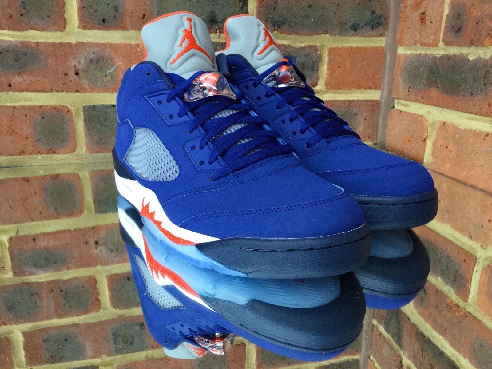 Nike Air Jordan Retro 5 low low low blu/KNICKS. UK11/US12/EU46. IV V VI. esaurita f5ce66