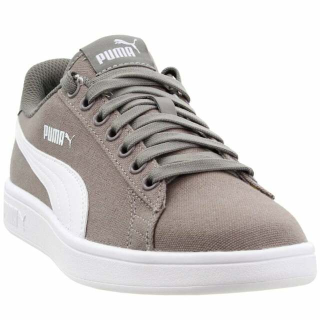 Puma Smash V2 Canvas Sneakers Casual    - Taupe - Mens