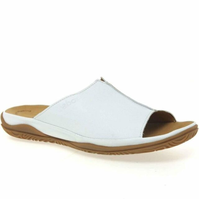 084cde22a2395f Gabor Idol Leather Wide Fit Casual Womens Mules White 6.5. About this  product. Picture 1 of 2  Picture 2 of 2. Picture 2 of 2