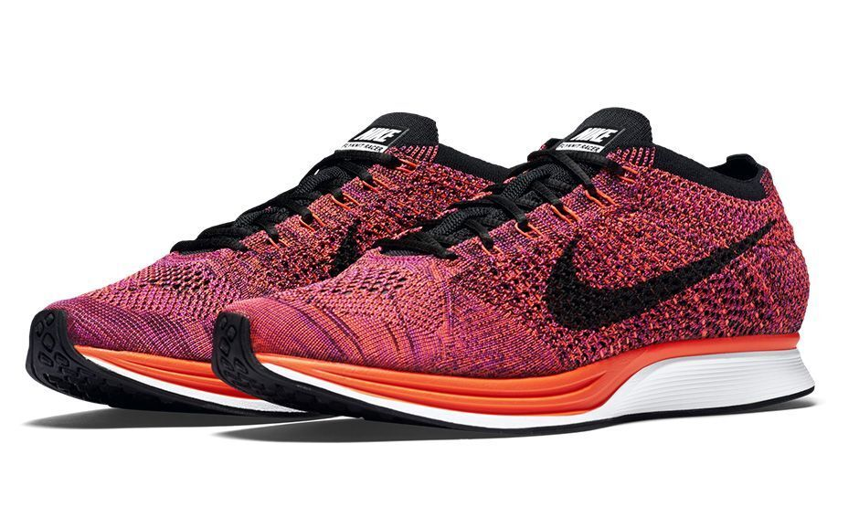 Nike Flyknit Racer  Acai Berry  Black   orange   Purple 526628 008