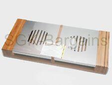 Stylish Bamboo Twin Tea Light Plate Warmer Chafing Dish Hot Tray Buffet Server