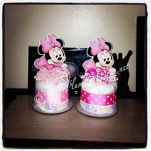 Baby Minnie Mouse Diaper Cake Mini Baby Shower