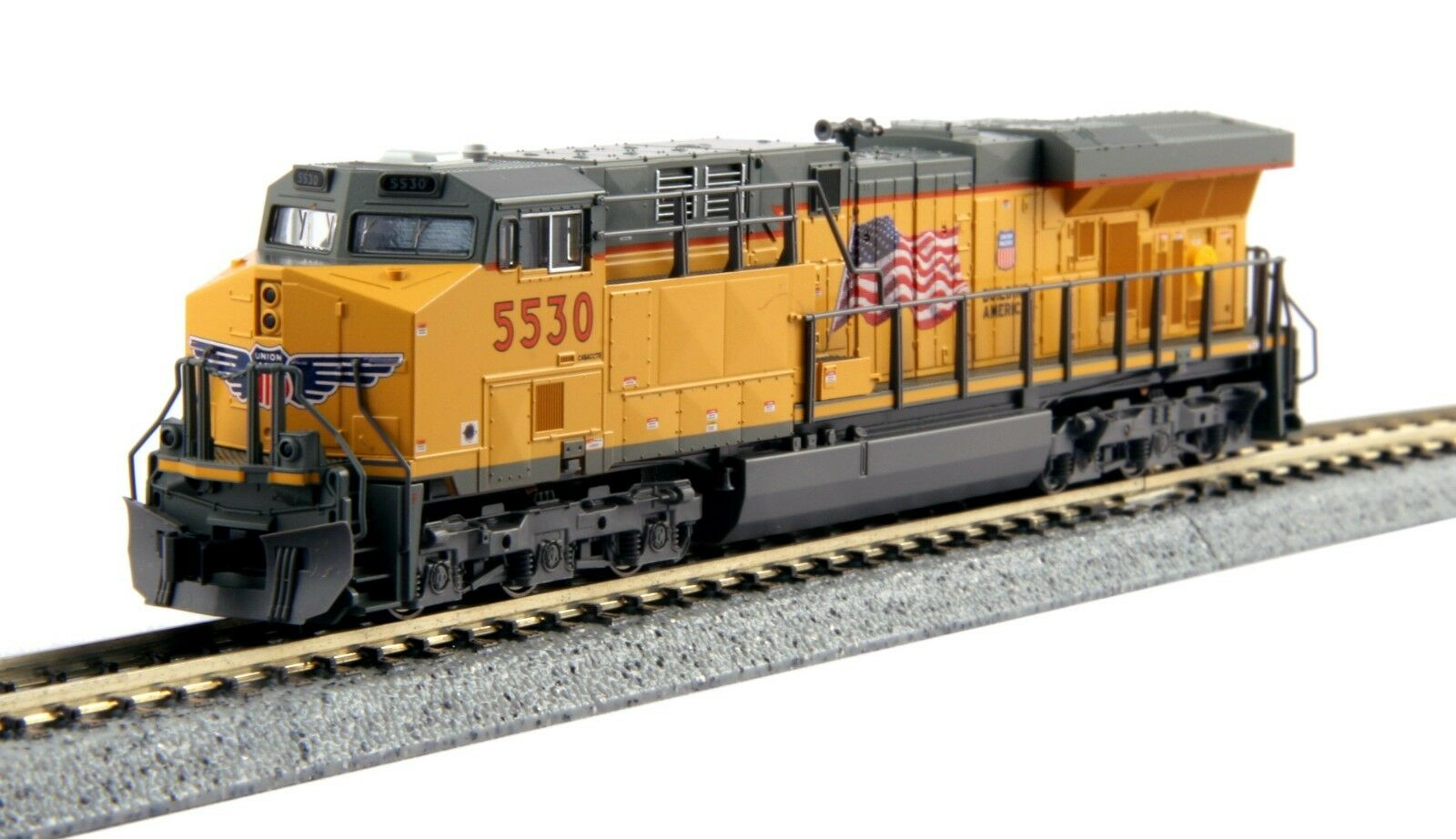 Kato N Scale Gemini exclusivo ES44AC Diesel Union Pacific  5530 Dcc Listo