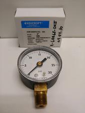 New Old Stock Ashcroft 2 0 30 Psi 14 Pressure Gauge 20w1005ph02l30