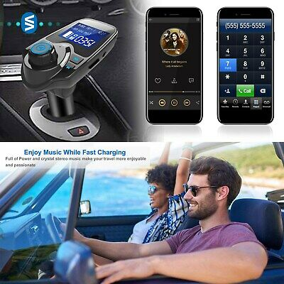 Wireless Car AUX Stereo Audio Receiver FM Adapter USB Charger A2DP USA