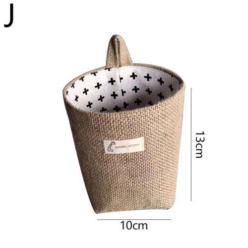 Hanging Storage Bag Cotton Linen Organizer Storage Basket CA
