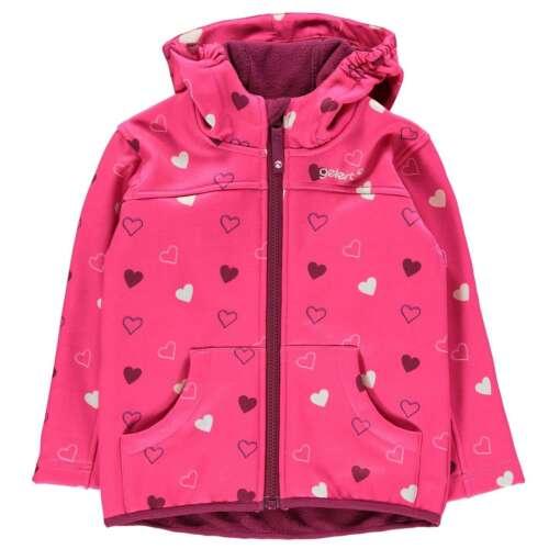 Gelert Kids Softshell Hooded Jacket Childs Coat Top Water Resistant Zip Full