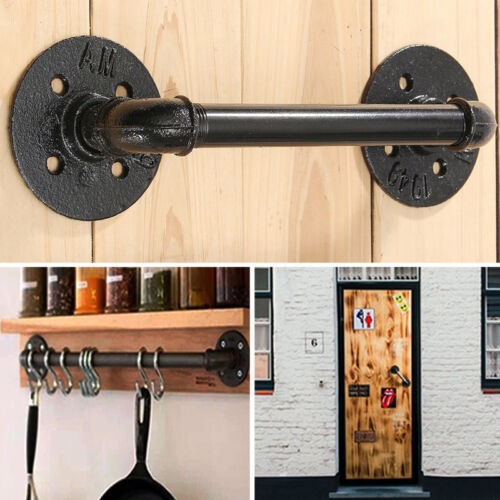 Industrial Iron Door Handle Antique Rustic Cast Gate Towel Racks DIY Holder
