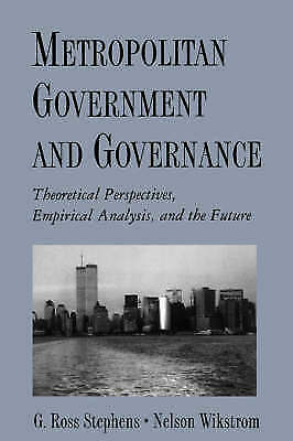 1 of 1 - USED (GD) Metropolitan Government and Governance: Theoretical Perspectives, Empi