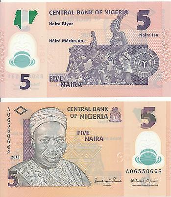 Nigeria 5 Naira 2013 Unc Pick 38d
