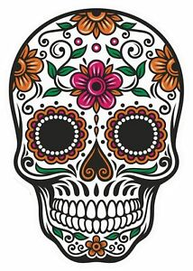 Image Is Loading Sugar Skull Vinyl Sticker Decal Mexican Spanish Day