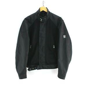 Superb-Men-039-s-Belstaff-Nylon-Jacket-in-Black-Size-L-Top-Quality-Nylon-AB793
