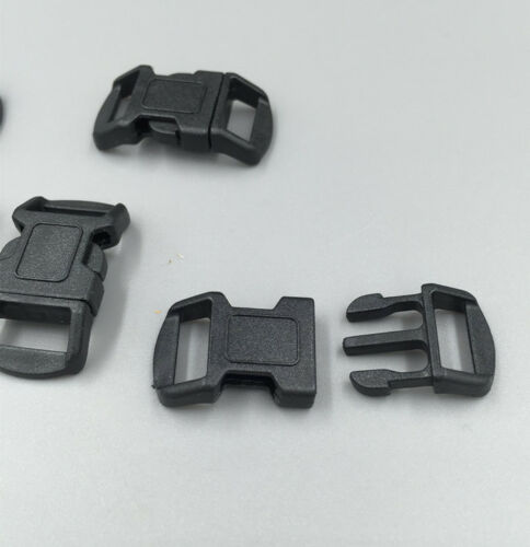 50X Black Curved plastic buckle Bow tie backpack accessories paracord Bracelets