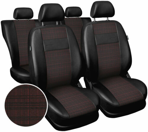 red Seat covers fit Ford Focus Mk1 Mk2 Mk3 Mk4  polyester leatherette black