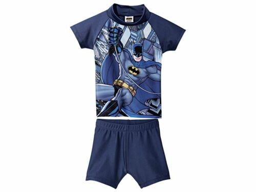 Jungen UV set Schwimmanzug  Badeanzug Hose Shirt  2-tlg   UV 50 Batman 74-80