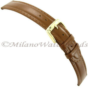 18mm-Speidel-Tan-Brown-Genuine-Mesa-Leather-Stitched-Mens-Band-LONG-670-531