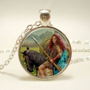Boudica Boadicea Good For Antipyretic And Throat Soother Beautiful Boudicca The Celtic Warrior Queen Pendant Necklace Gift Box