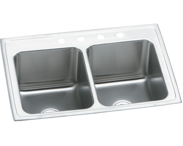 Deluxe 25 X 19 5 Designer Double Bowl Self Rimming Kitchen Sink For Sale Online Ebay