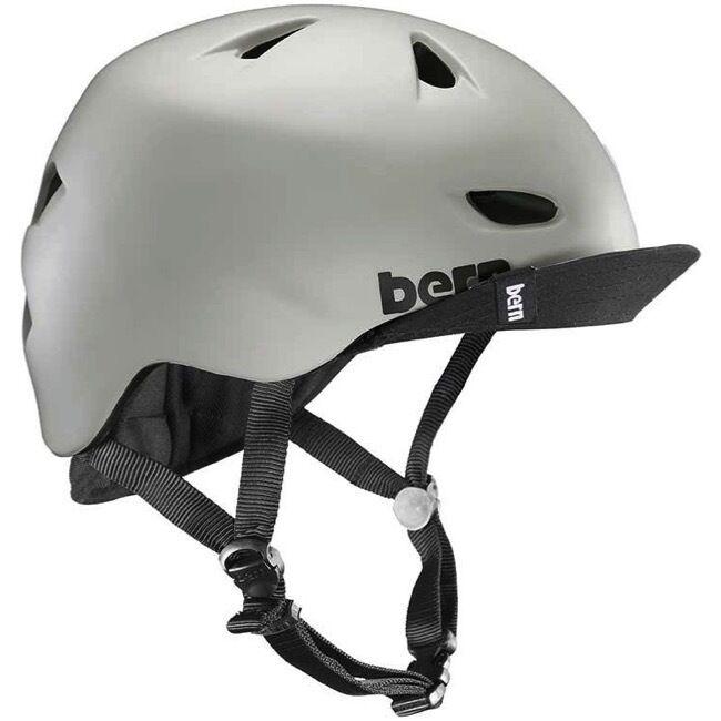 New Bern Brentwood Men Adult Bicycle Helmet w Visor MATTE SAND LXL  5760.5cm