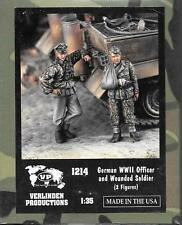 Verlinden WWII German Officer, Wounded Soldier, 2 Resin Figures in 1/35 1214  ST