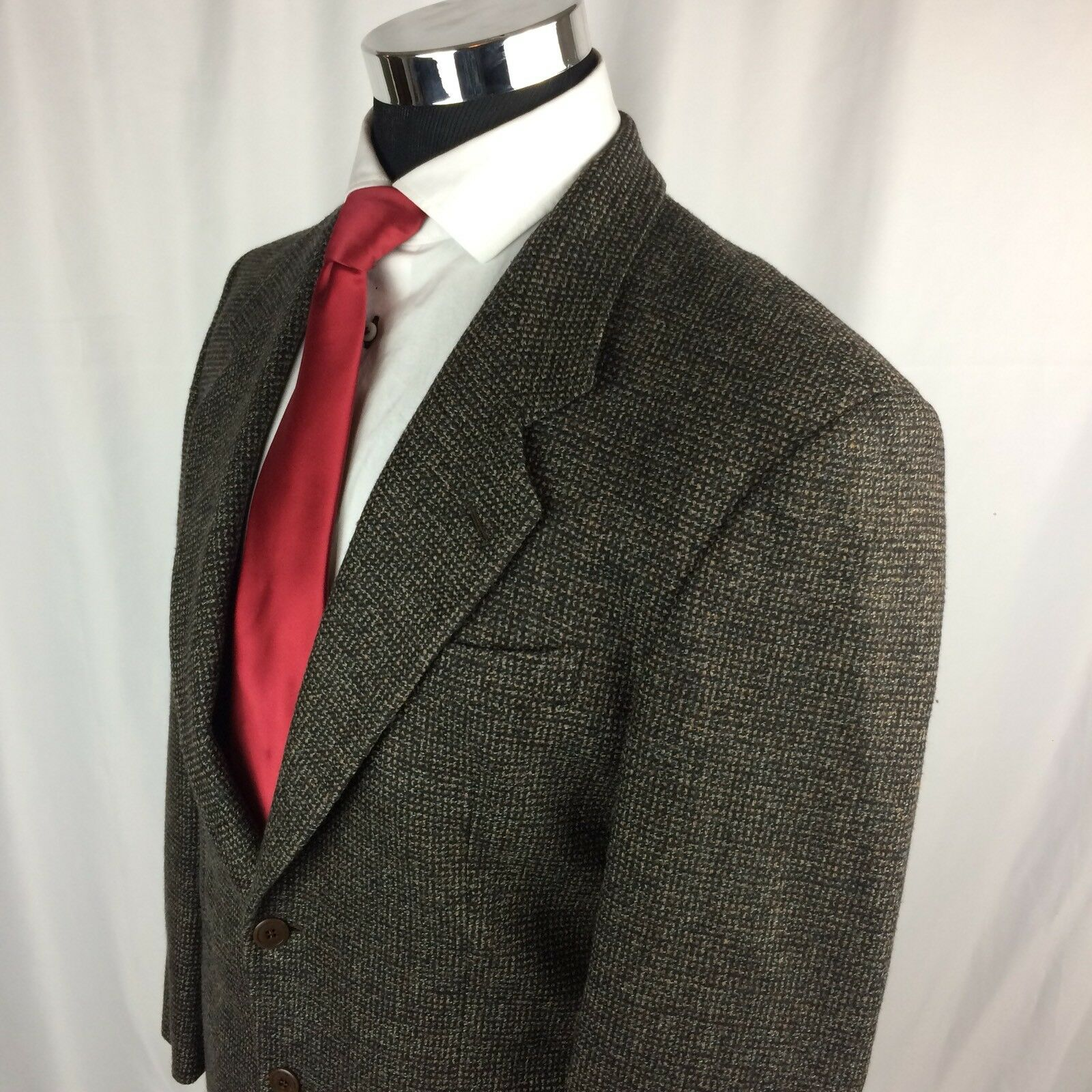 Uberti  Herren 38R Sport Coat Blazer Chashmere and Wool 10/90 Braun Two Button S2