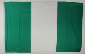 Nigeria Flagge 250 x 150 cm wetterfest Fahne Ösen Innen Außen große Hissflagge