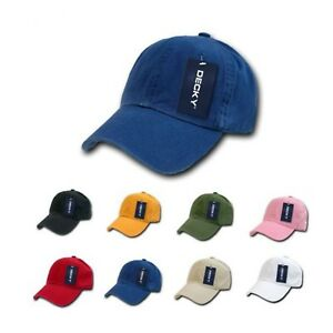 9145883388f DECKY Blank Polo Dad Baseball Hats Caps Solid Plain Washed 8 Colors ...