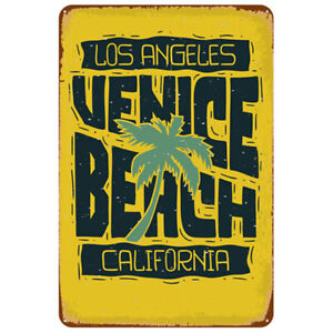TIN SIGN Sunset Blvd Street Sign Los Angeles LA California Metal Decor B910