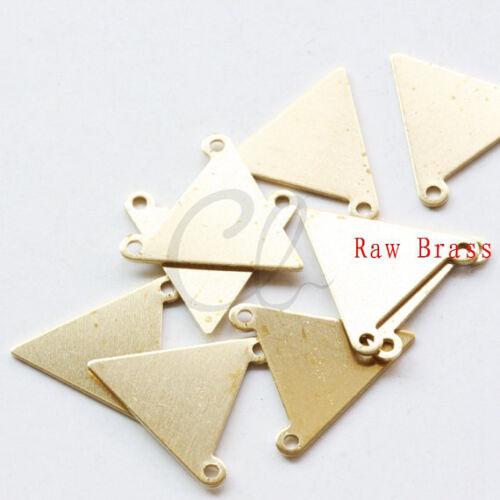 16mm 20 Pieces Raw Brass Triangle Link 1995C-P-335