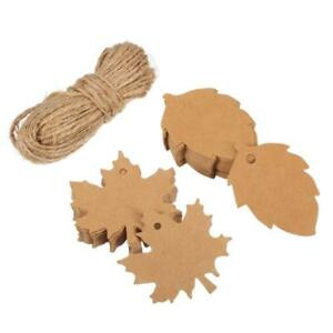 100Pcs-Blank-Brown-Kraft-Paper-Hang-Tags-Luggage-Wedding-Favor-Label-Gift-Cards