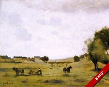 EPERNON FRENCH FARM COUNTRYSIDE FRANCE PAINTING ART REAL CANVAS GICLEEPRINT