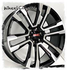 24 Inch Gloss Black Machined 2018 Gmc Yukon Denali Oe 5822 Replica Wheels 6x55