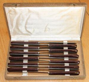 12 couteaux ancien manche en bakélite lame inox