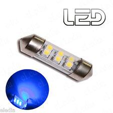 1 Ampoule navette C10W 41 mm 41mm 6 LED Eclairage  BLEU Plafonnier Habitacle