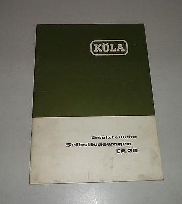 1964 Motors Parts Catalog/spare Parts List Köla Selbstladewagen Ea 30