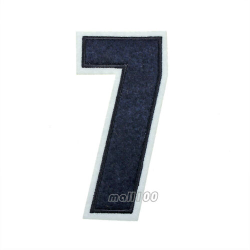 Red Blue Numbers 0-9 Patches Sew on Iron on Badge Patches Embroidered Appliques