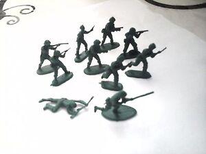 Figurines soldat vert en plastique lot de 10 | eBay