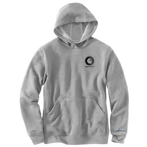 NEW  CARHARTT Force Delmont Hooded Sweatshirt ASPHALT HEATHER 103453-058 LARGE