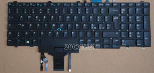 New For DELL Latitude 5550 5580 5590 5591 Keyboard Backlit Italian Tastiera