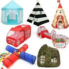 Various Toddler Tunnel Pop Up Play Tent Playhouse Indoor Outdoor Castle Kids Toy
