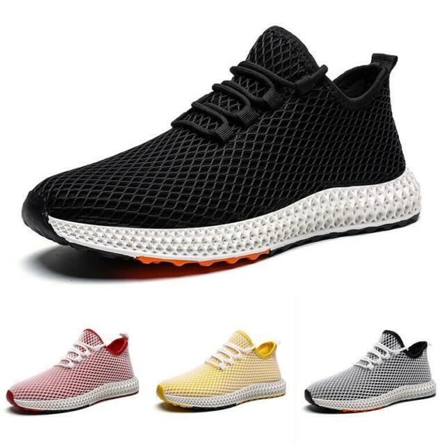 0898bb631be9 New Outdoor Running Sport Men's Fitness Sneakers Mesh Breathable Lace Up  Shoes
