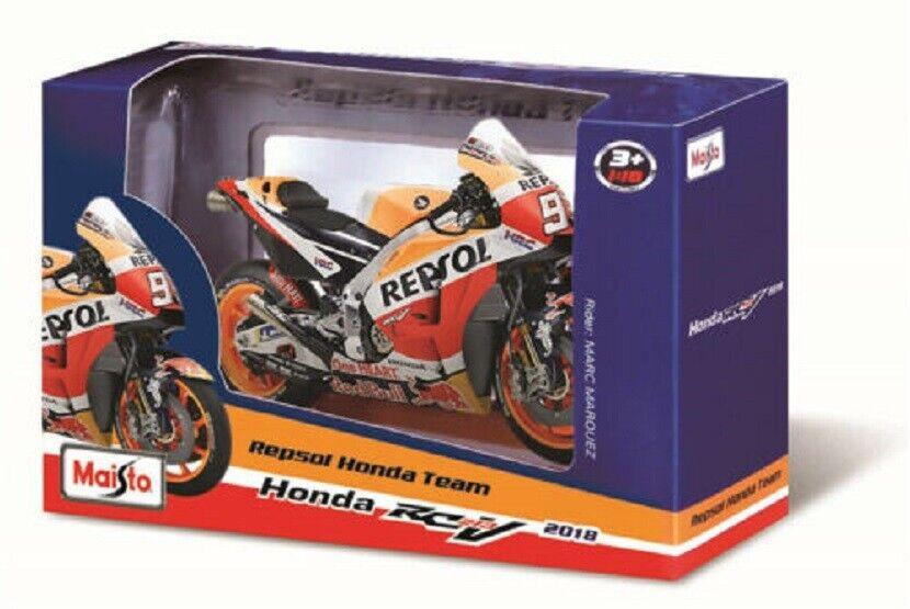 Model Bike Motorcycle REPSOL HONDA MARQUEZ NO.93 2015 scale 1:12 model die cast