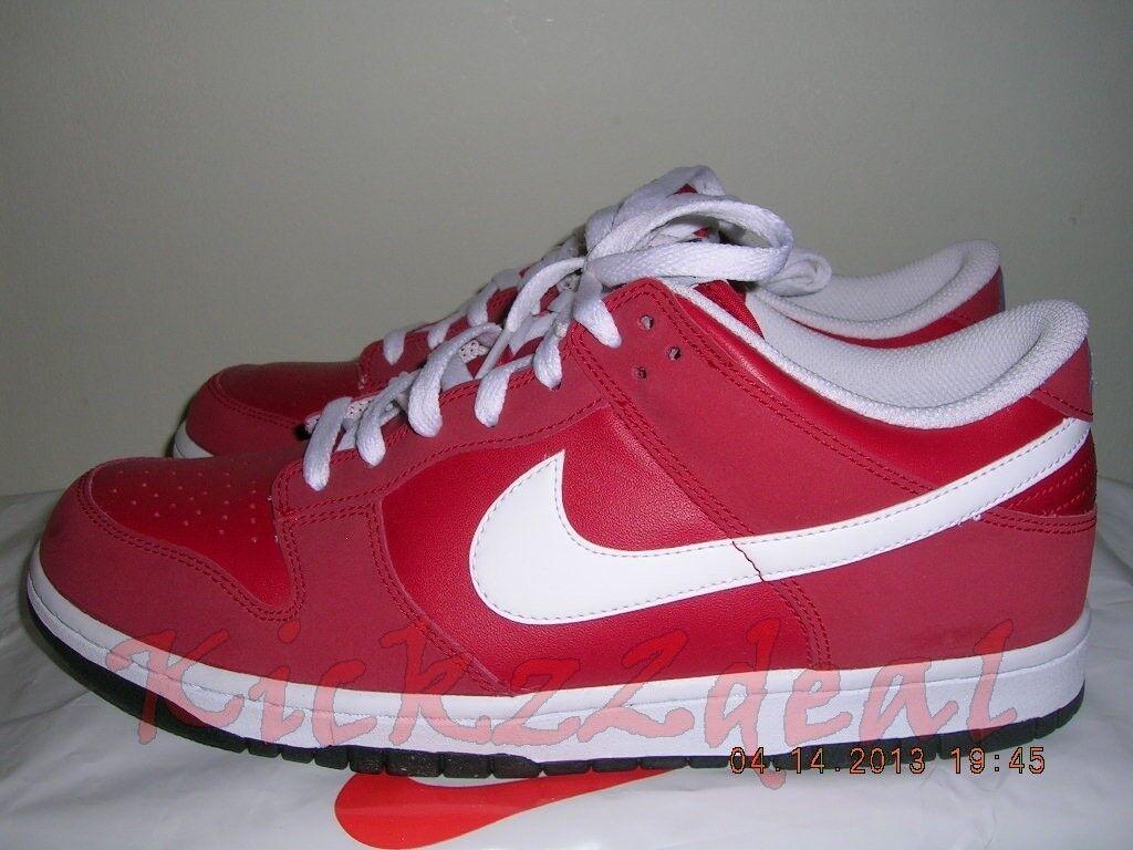 Nuove nike e basso skateboard scarpa sz 11 rosso / bianco 318019-600 valentine