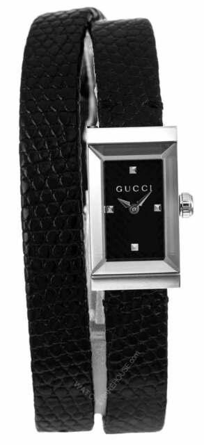 a700e208b68 Gucci G-Frame Black Chevron Pattern Dial Strap Women s Watch YA147505