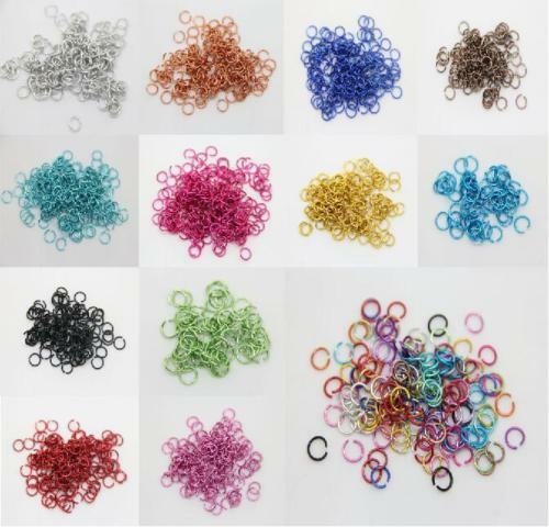 Lot 500//2000Pcs Aluminum Jump Rings Open Connectors For DIY Jewelry Making